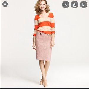 J. Crew No. 2 pencil skirt in vintage tweed pink